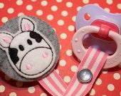 Molly Moo Cow pacifier Clip