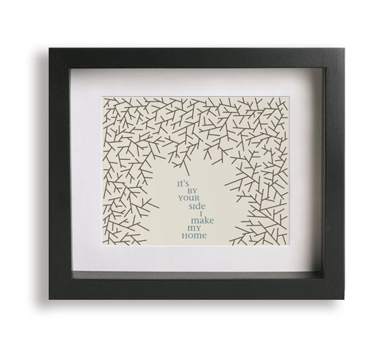 Loving Wings / Dave Matthews Band inspired song lyric art print - wedding gift, first anniversary gift, wall decor, typography print, art