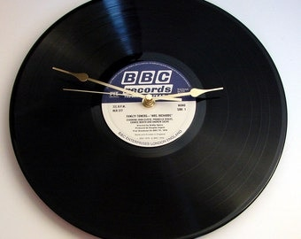 FAWLTY TOWERS Vinyl Record Clock, TV Series, John Cleeses, Prunella Scales, Manuel, Polly and all the gang. Choose your favourite episode...