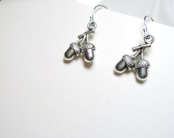 Tiny Acorn  earrings- Botanical jewelry, Acorn jewelry - free gift and shipping