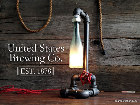 Vintage industrial pipe lamp faucet switch industrial - Lampara industrial vintage ...