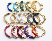 Wholesale 50% off - 20 bracletes - Arm candy - 24K gold plated.