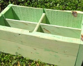 Rustic Green Divided Storage-100 Percent Reclaimed Wood-Salvaged Wood-Eco Friendly- Rustic-Shabby Chic