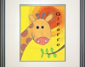 "Safari Giraffe Digital Print Download - 8"" x 10"""