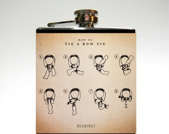 Groomsman Flask : How To Tie A Bowtie