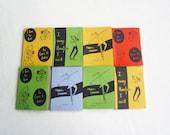 Handmade Handprinted  Art Pocket Notebooks. 5 different designs. Custom color