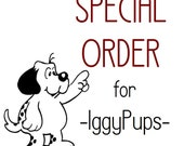 Special Order for -IggyPups- GemBonz Birthstone dog collar charm handmade lampwork