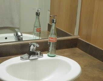 Coca-Cola Soap Dispenser Coke Lotion Dispenser Hand Sanitizer Recycled Upcycled Repurposed Bottle