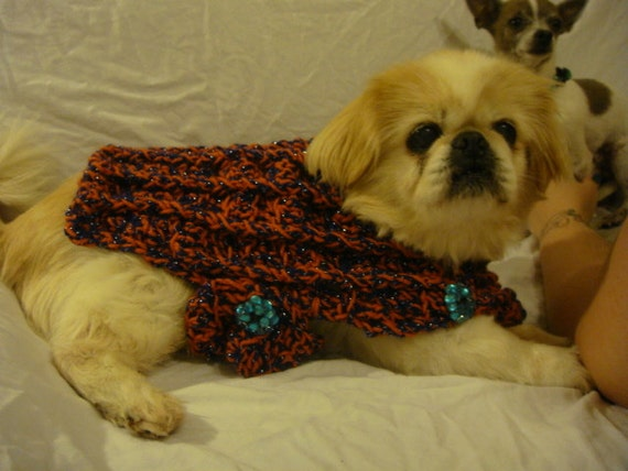 Crochet Xl Dog Sweater : Items similar to EXTRA Extra Large dog sweater, Deluxe pattern crochet ...