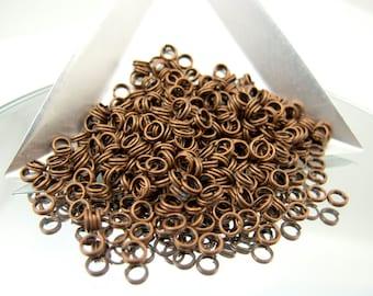 4mm Antique Copper Split Rings 400 Pieces