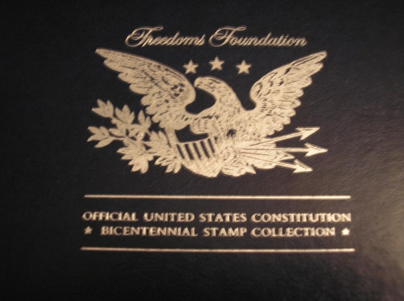 1987 Official United States Constitution - Bicentennial Stamp / Silver Collection By Franklin Mint & Freedoms Foundation