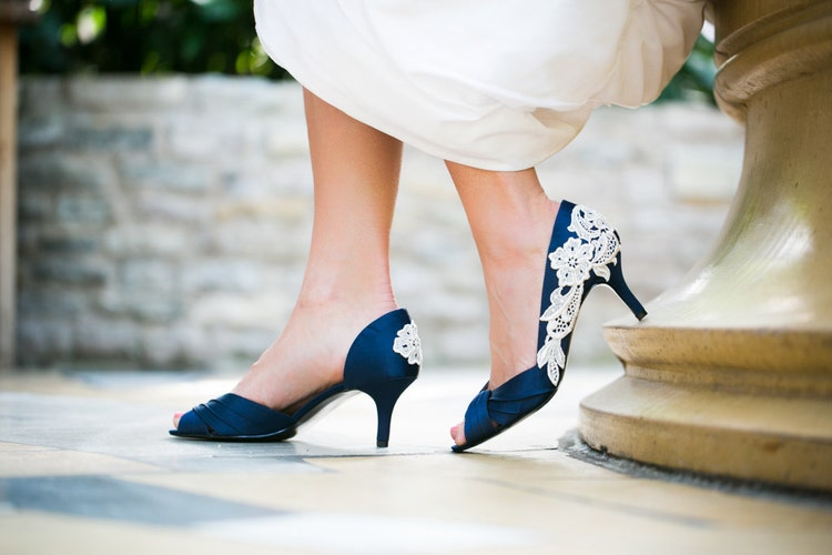 Wedding Shoes Navy Blue Wedding Heels/Bridal Shoes By
