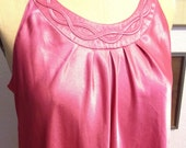 Small Braided Pink Coral Oscar De Le Renta Nightgown