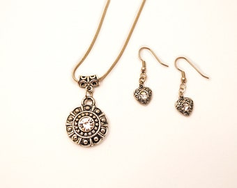 Silver and Rhinestone Necklace