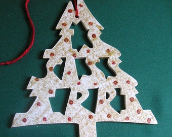 Mississippi ornament, tree shaped