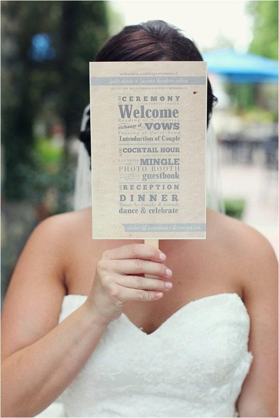 Wedding Program Fan DIY Printable File Rustic Yellow