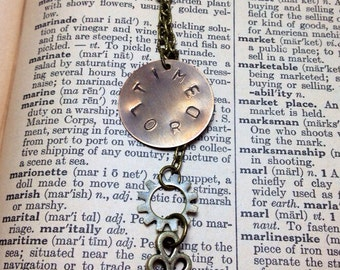Hand Stamped Time Lord Doctor Who Inspired Necklace