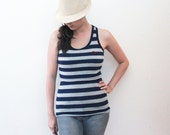 On Hand, Ready to Sew: Peek-a-Boob Striped Racerback Nursing Tanks (see avail options)
