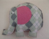 Felted Elephant Animal Pillow