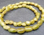 Natural Sphene Nugget Smooth Beads 1/2 Strand Titanite