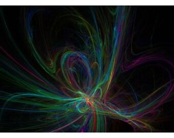P50 - Abstract Art Digital Fractal Postcard