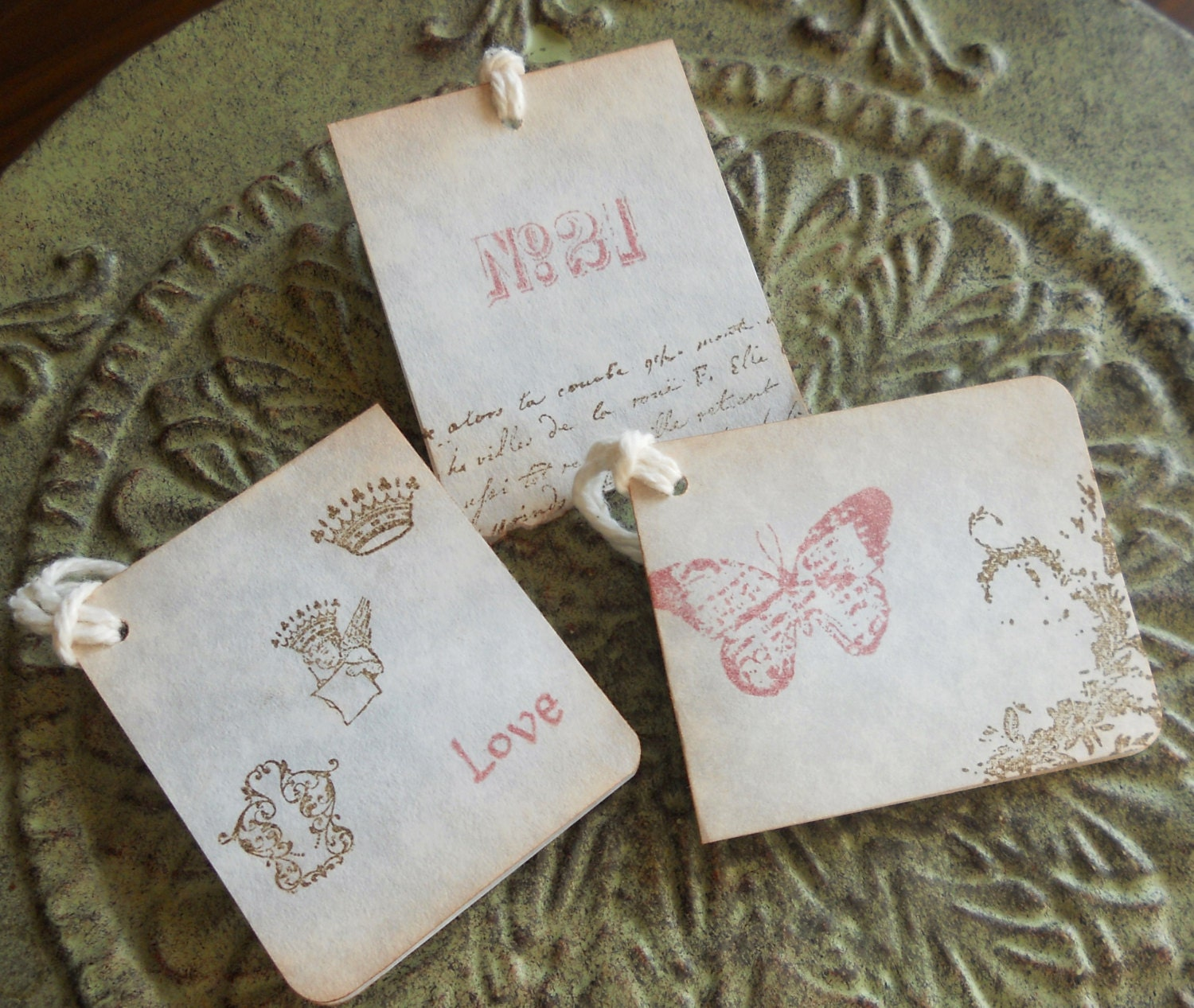 French Wedding Gifts: French Vintage Themed Wedding Gift Favors Baby Gift Tags Or