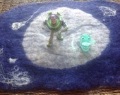Space Play Mat - Hand Felted - Travel Size