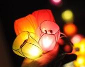 20 x floral Chic Flower fairy fancy handmade colorful string light bedroom decoration garland lantern