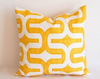 Yellow throw pillow cover One cushion cover mustard yellow throw pillow covers