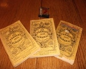 Set of three vintage (1974, 1975, and 1976 ) The old Farmers' Almanac