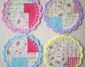 Crochet Fabric Coaster - Set of 4