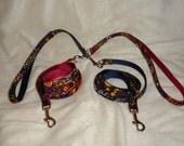 4, 5, or 6 foot custom multi-use leash.  YOU pick fabric and nylon color.