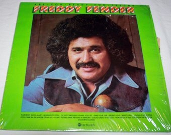 Freddy Fender on ABC Dot Records 1975 Are You Ready For Freddy with Newspaper clippings and photos; Texas Tornados; Country Music;