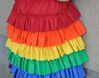 Ruffle Rainbow Skirt made of Cotton Jersey Knit