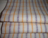 SALE PRICE REDUCED  Pillowcase Pillow Case Pillow  Sham  Cotton Yellow  Lilac Stripes  1930 Fabric Heirloom Textile Unused