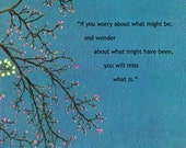 Tree / If you Wonder / Thoughtful Quotes / Plaque Wall Art / Gift