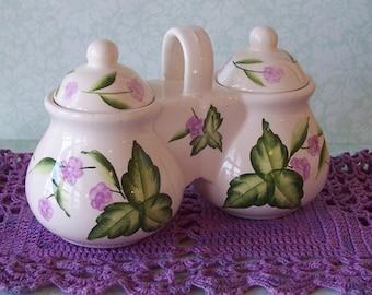 SALE Designpac, Inc. Ceramic Double Jelly Jar with Lids
