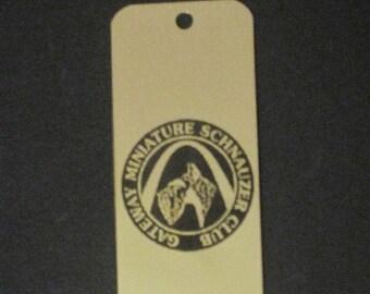 Personalized Bookmark  Logo Gateway minitaure schnauzer club