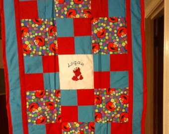Baby Elmo Baby/Toddler Quilt