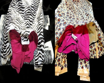 100 8x16 Zebra and leopard Plastic Merchandise Bags, Zebra Print T-Shirt  Bags, Craft show Bags, Animal Print Plastic Party Bags, Wholesale