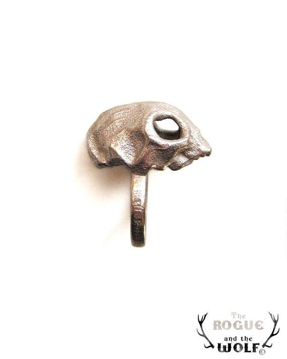 Cat Skull Ring, skull ring, kitten skull ring, cool rock chic ring, animal skull, for the super cool boyfriend, for the edgy girlfriend