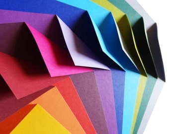 Origami Paper 100 Sheets - Complementary Colour Collection