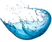 Water Splash - a Sarah Landon original painting.