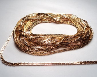 10 feet - Gold plated 1.8mm Boston link chain - m240