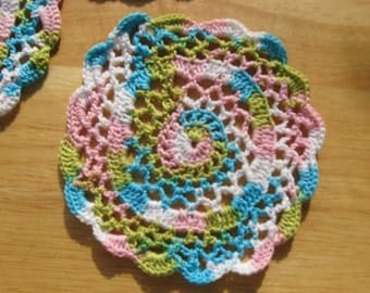 Pink and Blue Pastel Doilies