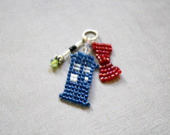The Eleventh Doctor beaded charm