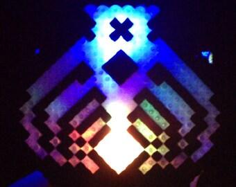 LED Bassnectar Necklace - Multicolor Flashing Fading Strobe RBG kandi light glow night festival rave toy shirt pendant medallion chain