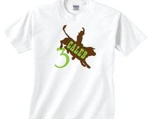 Birthday Bull Riding Shirt, Customizable Cowboy Tshirt, Custom Bull Shirt, Rodeo Birthday