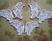 Venice Lace Butterfly Appliques, White, x 6, Embellishment For Scrapbook, Mixed Media, Accessories, Decor, Romantic & Victorian Crafts