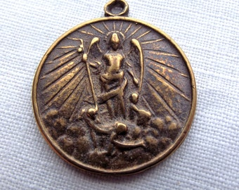 Bronze St. Michael the Archangel Medal VP618